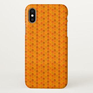 Schädelmuster in den orange Farben iPhone X Hülle