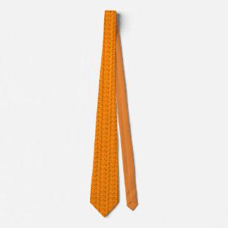 Schädelmuster in den orange Farben Krawatte