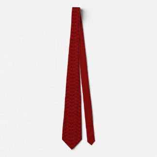 Schädelmuster in der roten Farbe Krawatte