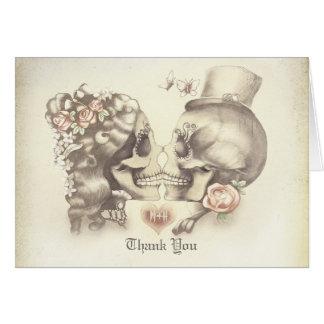 Schädelpaarhochzeit danken Ihnen Karten