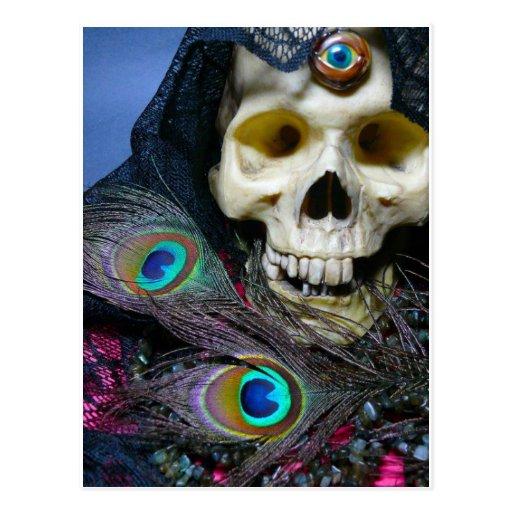 Schädelpostkarte des dritten Auges Postkarte