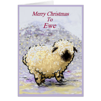 Schaf-frohe Weihnachten Wallis Blacknose Karte