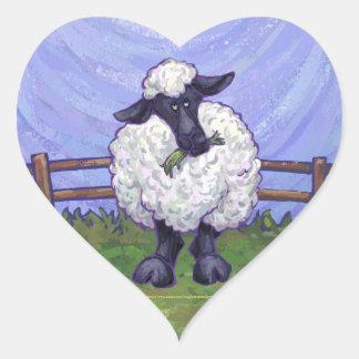 Schaf-Geschenke u. Zusätze Herz-Aufkleber