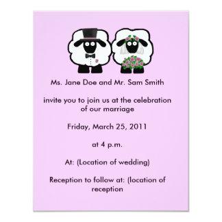 Schaf-Hochzeits-Einladung