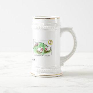 Schaf-Kaffee Stein Bierglas