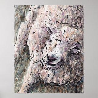 Schaf-Kopf-Blöken Poster