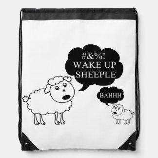Schaf sagt aufwachen Sheeple Sportbeutel