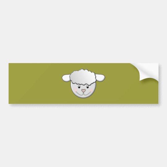 Schaf sheep autoaufkleber