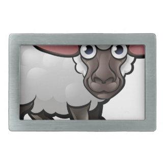 Schaf-Vieh-Cartoon-Charakter Rechteckige Gürtelschnalle
