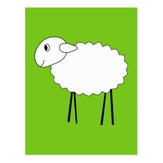 Schafe auf grünem Hintergrund Postkarten