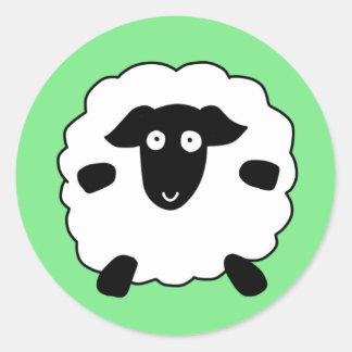 Schafe Runder Aufkleber