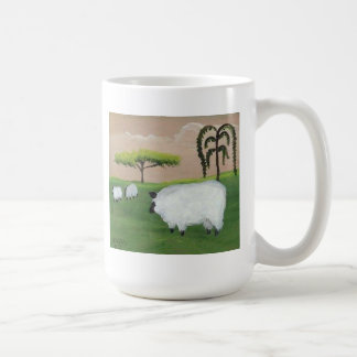 Schafe im Sonnenuntergang durch LN Pettey Kaffeetasse
