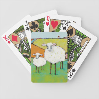 Schafe in der Wiese Bicycle Spielkarten