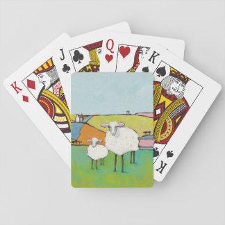 Schafe in der Wiese Spielkarten
