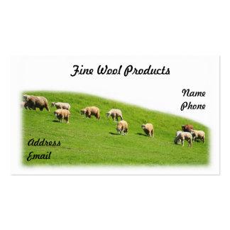 Schafe lassen auf einer üppigen Weide weiden Visitenkarten Vorlage
