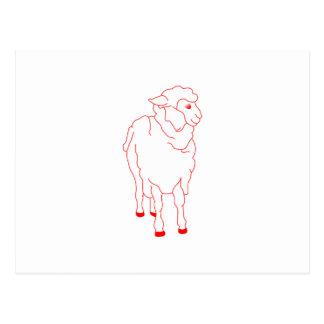 Schafe Redwork Postkarte