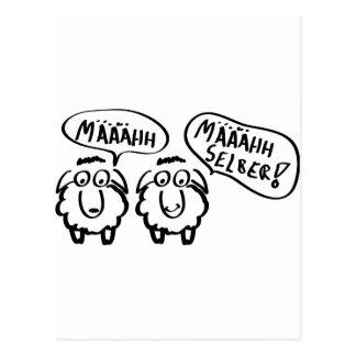 Schafe schafe määähhh määhhh selber! postkarte