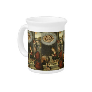 Schäfer, die Baby Jesus durch Cranach verehren Getränke Pitcher