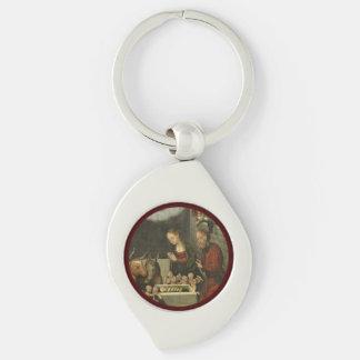 Schäfer, die Baby Jesus durch Cranach verehren Schlüsselanhänger