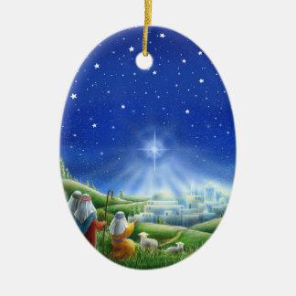 Schäfer kommen zu Bethlehem-Verzierung Keramik Ornament