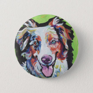 Schäfer-Pop-Kunstminiaturmalerei des SPASSES Runder Button 5,7 Cm