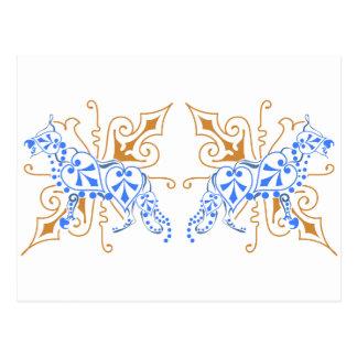 Schäferhund abstrakt postkarte