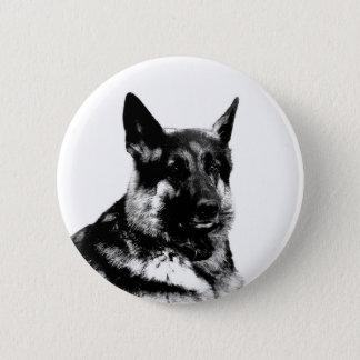 Schäferhund-Abzeichen Runder Button 5,7 Cm