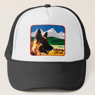 Schäferhund Albertas Truckerkappe