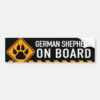 Schäferhund an Bord Autoaufkleber
