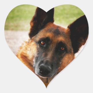 Schäferhund-Aufkleber Herz-Aufkleber