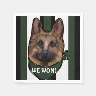 Schäferhund-Benachteiligter Serviette