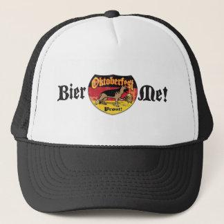 Schäferhund-Bier-Emblem Truckerkappe