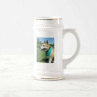 Schäferhund Bierglas