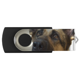 Schäferhund-Bild Swivel USB Stick 2.0