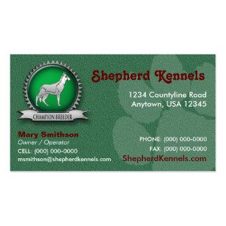 Schäferhund-Brüter-/Hundehütten-Visitenkarte Visitenkarten