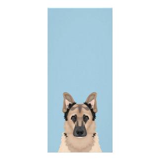 Schäferhund-Cartoon Werbekarte
