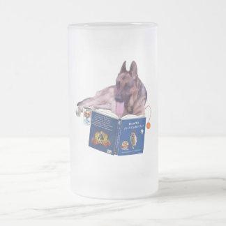 Schäferhund, der 16-Unze-mattierte GlasTasse liest Mattglas Bierglas