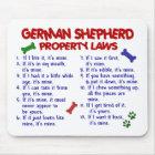 SCHÄFERHUND Eigentums-Gesetze 2 Mousepad