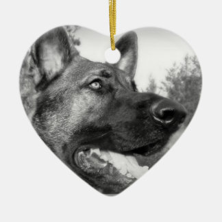 Schäferhund-Foto Keramik Ornament
