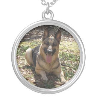 Schäferhund-Halskette Halskette Mit Rundem Anhänger