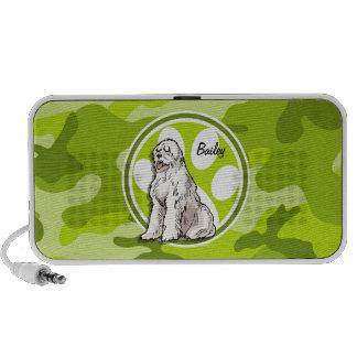 Schäferhund hellgrüne Camouflage Tarnung Mini Lautsprecher