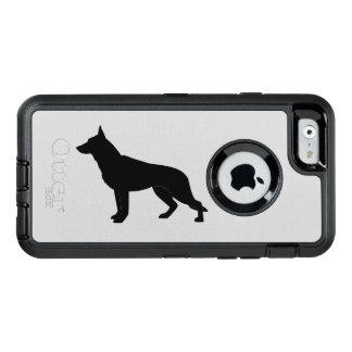 Schäferhund-Hund in der Silhouette OtterBox iPhone 6/6s Hülle
