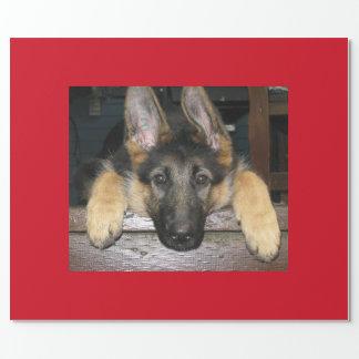Schäferhund-Hundegeschenk-Packpapier Geschenkpapier