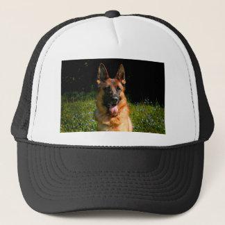 Schäferhund-Hundehaustier Truckerkappe