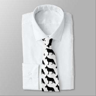 Schäferhund-Hundeschwarzes Individuelle Krawatten