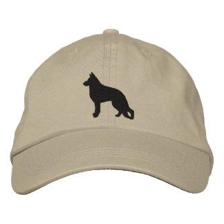 Schäferhund-HundeSilhouette Besticktes Baseballcap