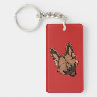 Schäferhund Keychain Browns und TANs Schlüsselanhänger