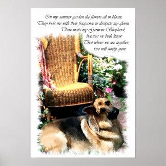 Schäferhund-Kunst-Druck Poster