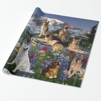 Schäferhund-Land Geschenkpapier