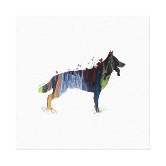 Schäferhund Leinwanddruck